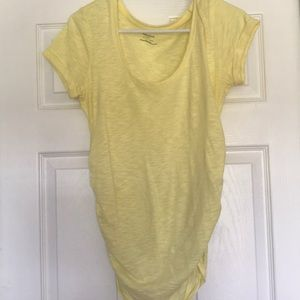 Yellow maternity shirt